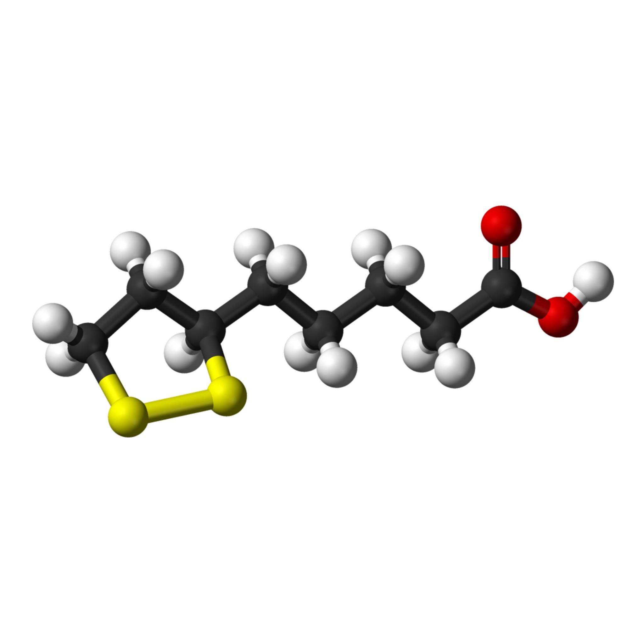 Lipoic acid 3D balls structure